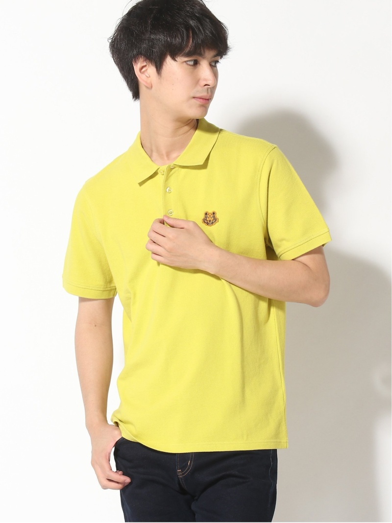 KENZO (M)Happy Tiger Crest SS Polo M ケンゾー カットソー ポロシャツ イエロー ブラック ブルー ネイビー ホワイト レッド【送料無料】