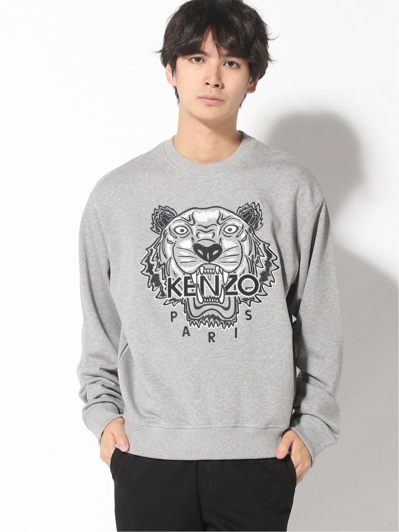 KENZO (M)Varsity Tiger Sweatshirt M ケンゾー カットソー スウェット グレー ブラック【送料無料】
