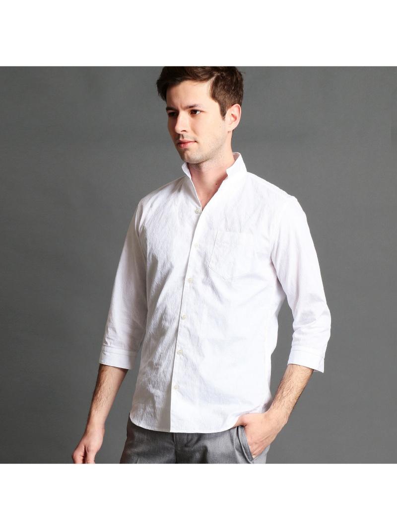 HIDEAWAYS NICOLE イタリアンカラー七分袖シャツ ニコル シャツ/ブラウス【送料無料】