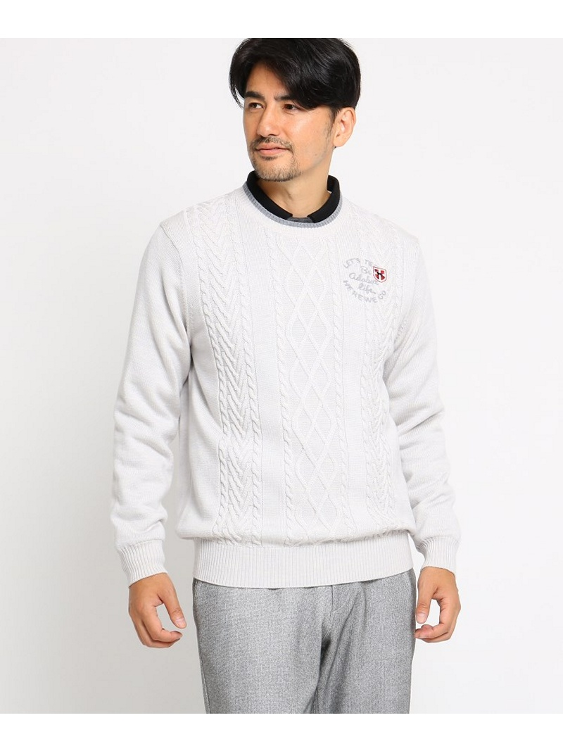 【SALE/30%OFF】adabat(Men) 【蓄熱】 ケーブル編み セーター メンズ アダバット ニット【RBA_S】【RBA_E】【送料無料】