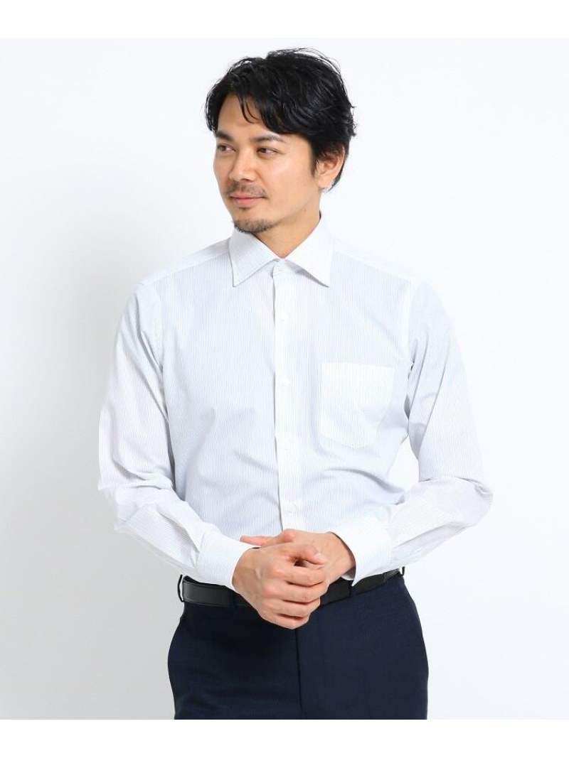 TAKEO KIKUCHI カラーストライプビジネスシャツ タケオキクチ シャツ/ブラウス シャツ/ブラウスその他 グレー ブルー【送料無料】