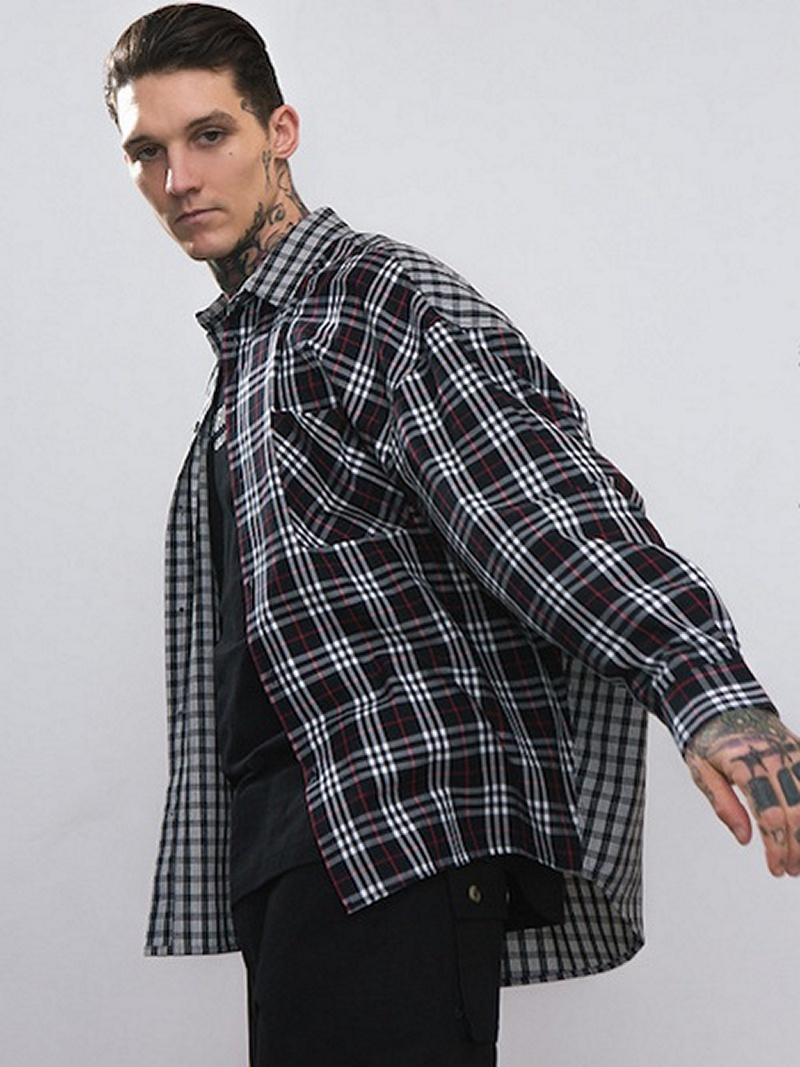 【EMMA NOVEMBER】ビッグチェックシャツ マイドゥーデザイン シャツ/ブラウス【送料無料】