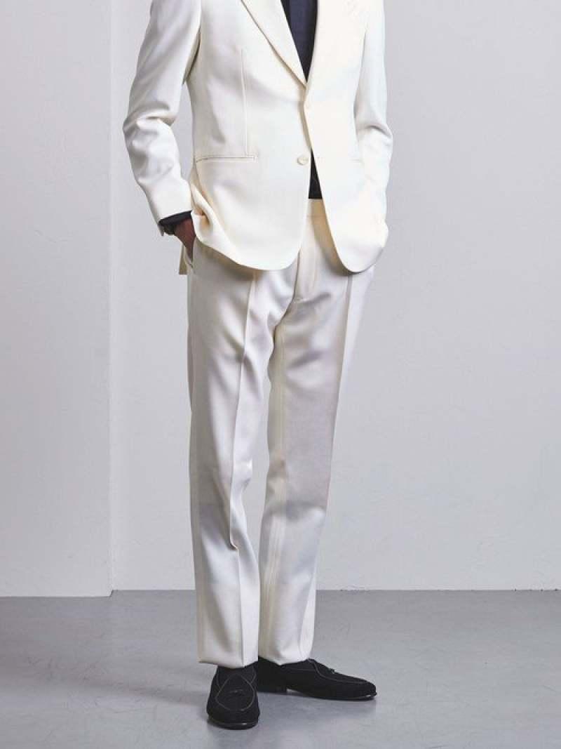 UNITED ARROWS <UNITEDARROWS>ホワイトアジャスター1Pパンツ ユナイテッドアローズ ビジネス/フォーマル スーツ ホワイト【送料無料】