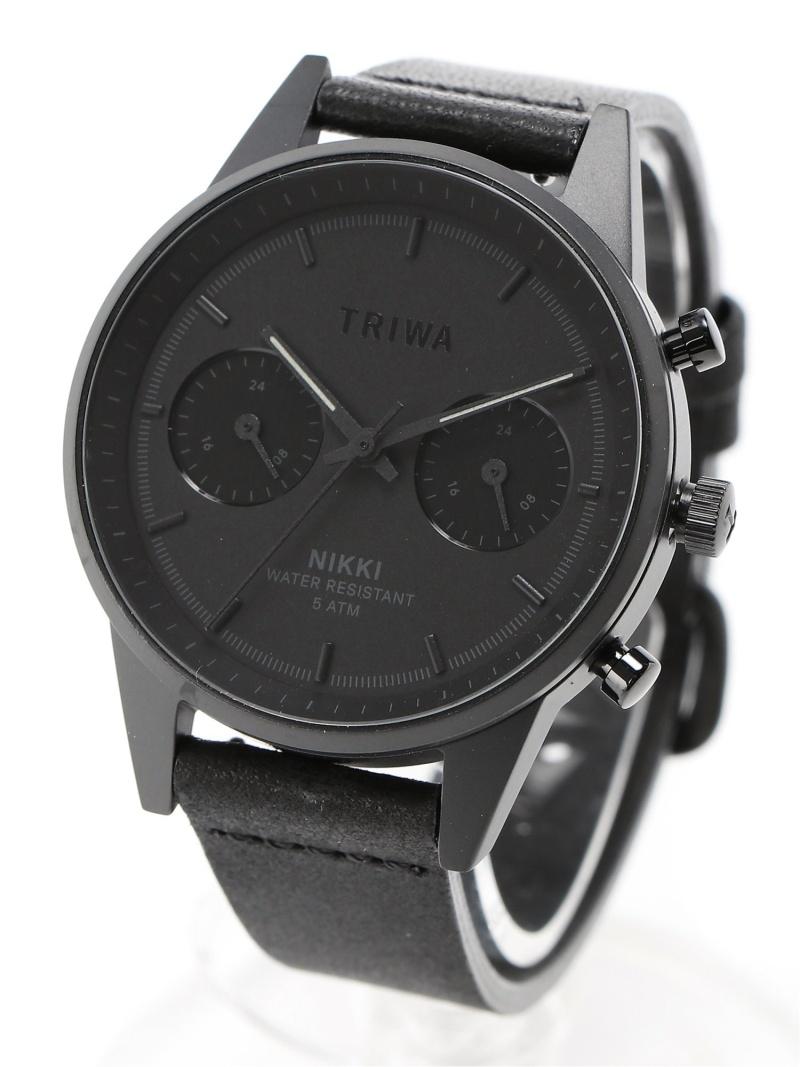 <title>TRIWA ユニセックス 超激安 ファッショングッズ トリワ U NIGHT NIKKI 腕時計 ブラック 送料無料</title>