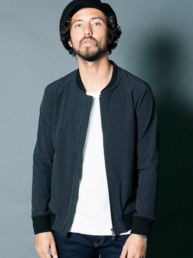 Magine NYLON 4WAY STRETCH ZIP NARROW RIB BLOUSON マージン コート/ジャケット【送料無料】