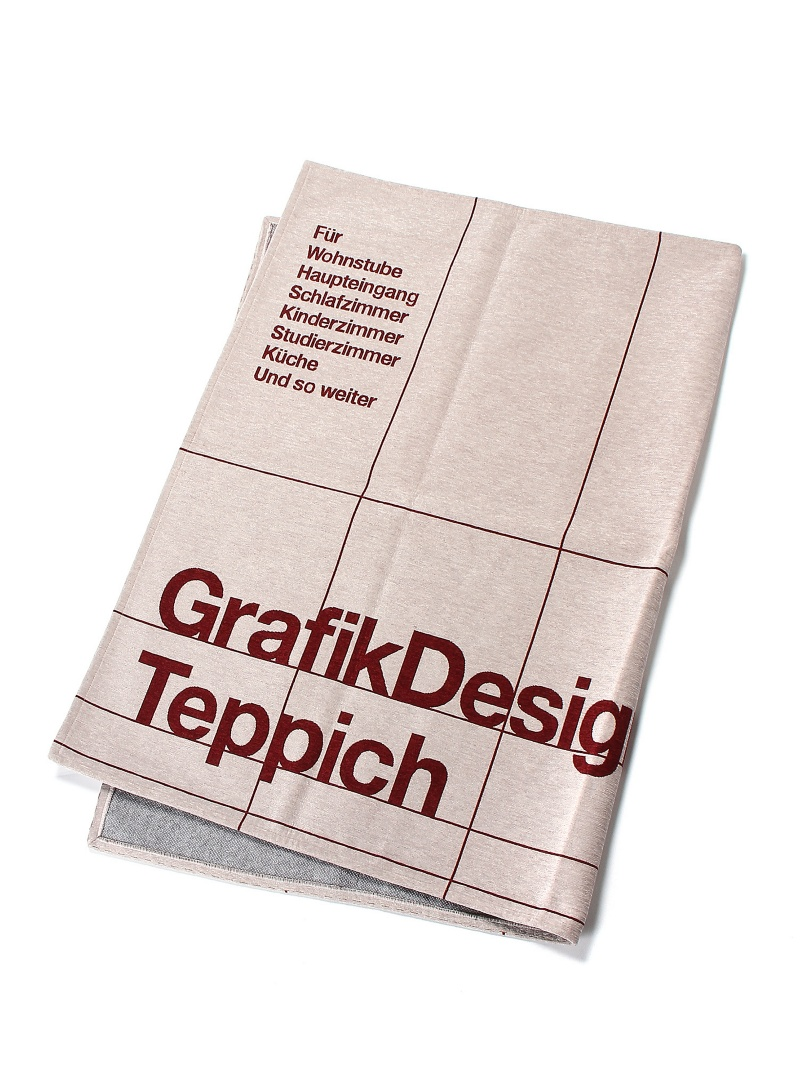 TIMELESS COMFORT TYPOGRAPHY[GRID]RUG140×200/グレー タイムレス コンフォート 生活雑貨【送料無料】