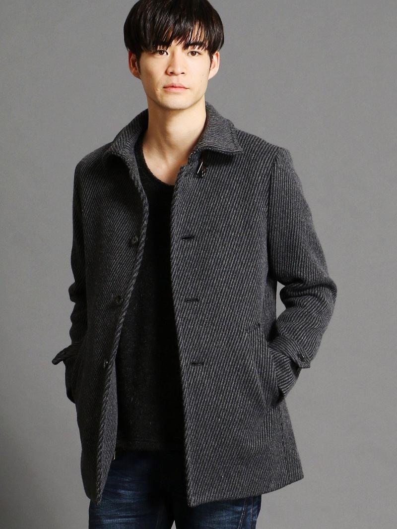 HIDEAWAYS NICOLE ウール混ステンカラーコート ニコル コート/ジャケット【送料無料】