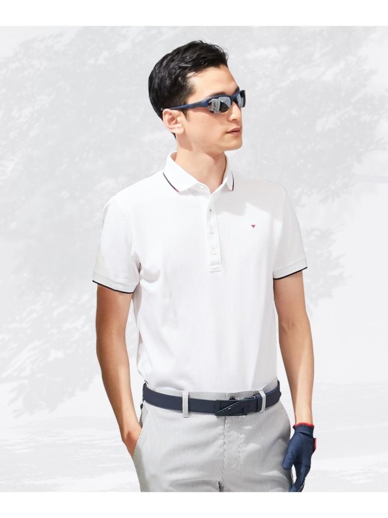 23区GOLF 【MEN】【吸汗速乾/UV】エッセンシャルホワイトシャツ ニジュウサンクゴルフ カットソー Tシャツ ホワイト【送料無料】