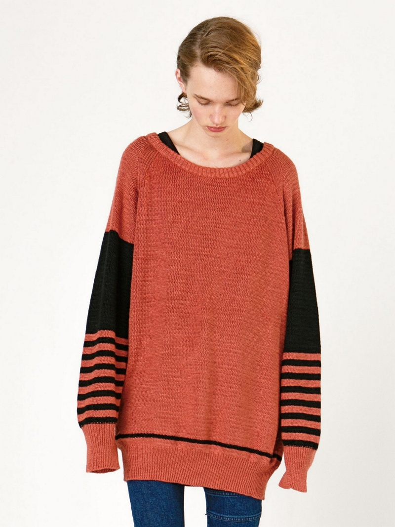 【SALE/20%OFF】SHAREEF LINEN BORDER SLEEVE PULL-OVER シャリーフ カットソー【RBA_S】【RBA_E】【送料無料】