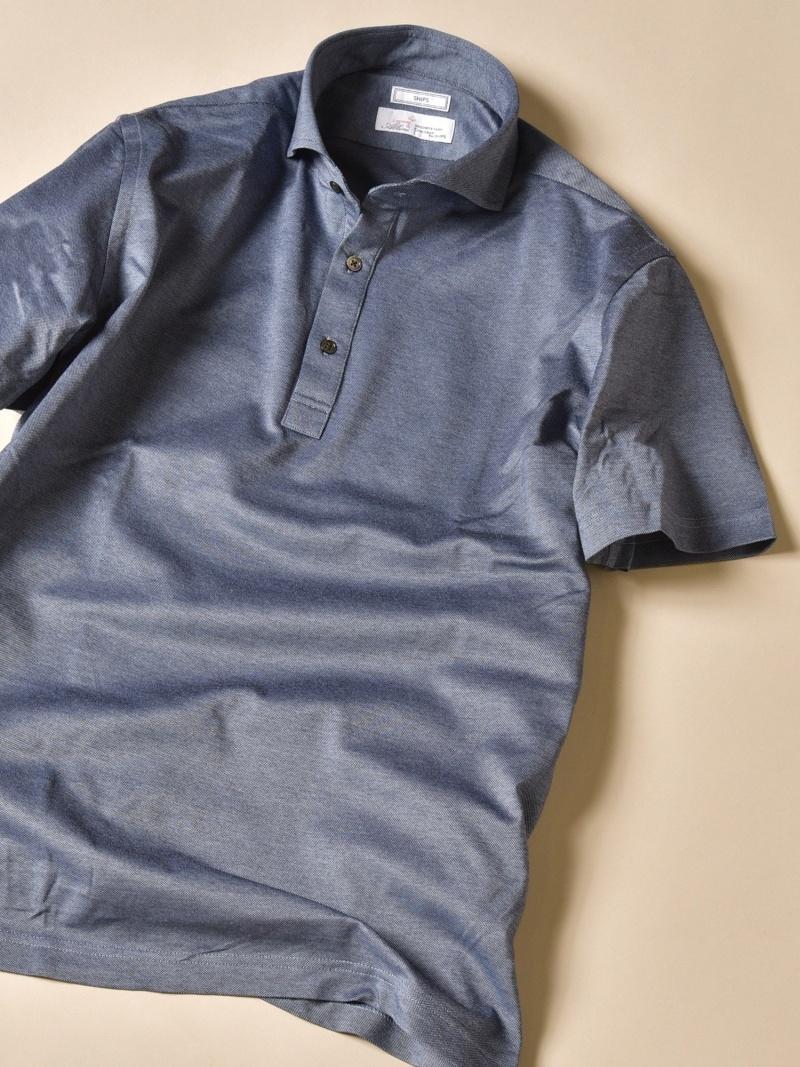 SHIPS SD:【ALBINI社製】Icotoniカノコショートスリーブポロシャツ シップス シャツ/ブラウス ワイシャツ ブルー カーキ レッド グリーン ネイビー【先行予約】*【送料無料】