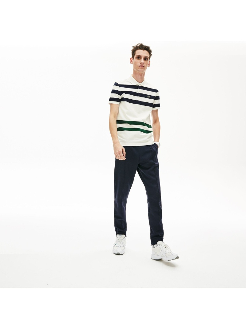 【SALE/30%OFF】LACOSTE スリムフィットコントラストボーダーポロシャツ(半袖) ラコステ カットソー ポロシャツ【RBA_E】【送料無料】