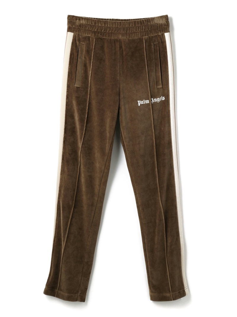 LHP PalmAngels/パームエンジェルス/CHENILLE TRACK PANTS エルエイチピー パンツ/ジーンズ フルレングス ブラウン【送料無料】