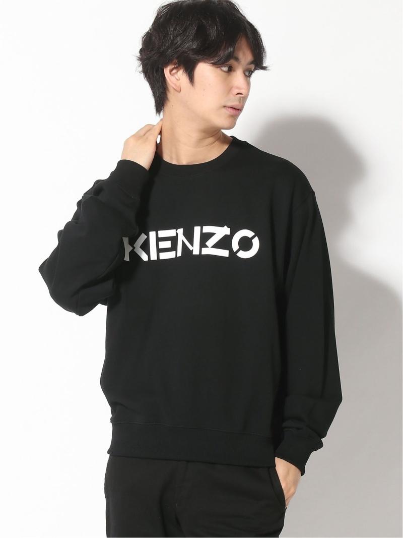 KENZO (M)Kenzo Bicolor Logo Sweatshirt M ケンゾー カットソー スウェット ブラック【送料無料】