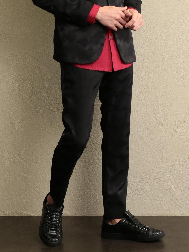 【SALE/25%OFF】LOVELESS 【LOVELESS】MENジャガードカモフラストレッチパンツ ラブレス パンツ/ジーンズ スラックス/ドレスパンツ ブラック ネイビー【RBA_E】【送料無料】