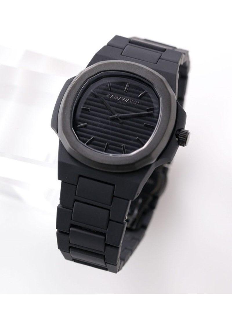 【SALE/30%OFF】KAMAWATCH ALLBlackウォッチ ナノユニバース ファッショングッズ 腕時計 ブラック【RBA_E】【送料無料】