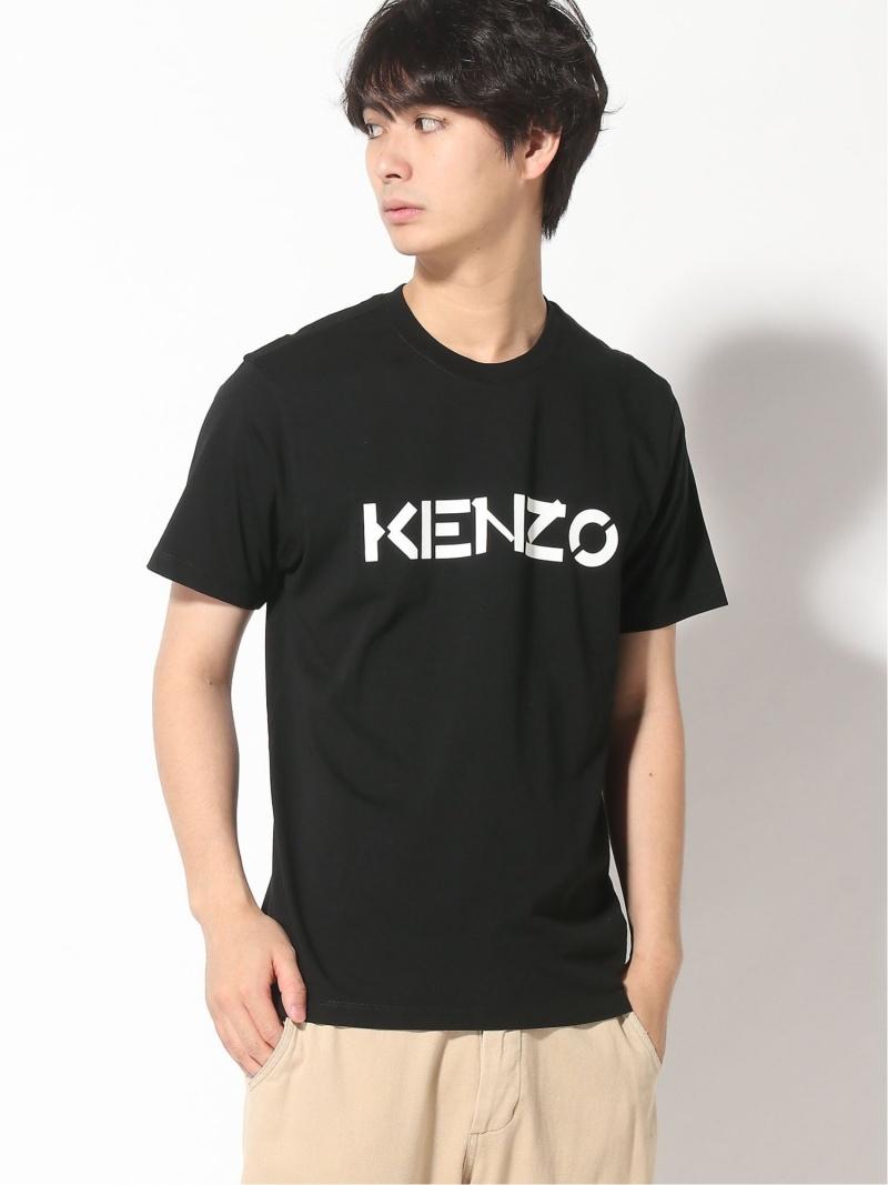 KENZO (M)Kenzo Bicolor Logo Tee M ケンゾー カットソー Tシャツ ブラック【送料無料】