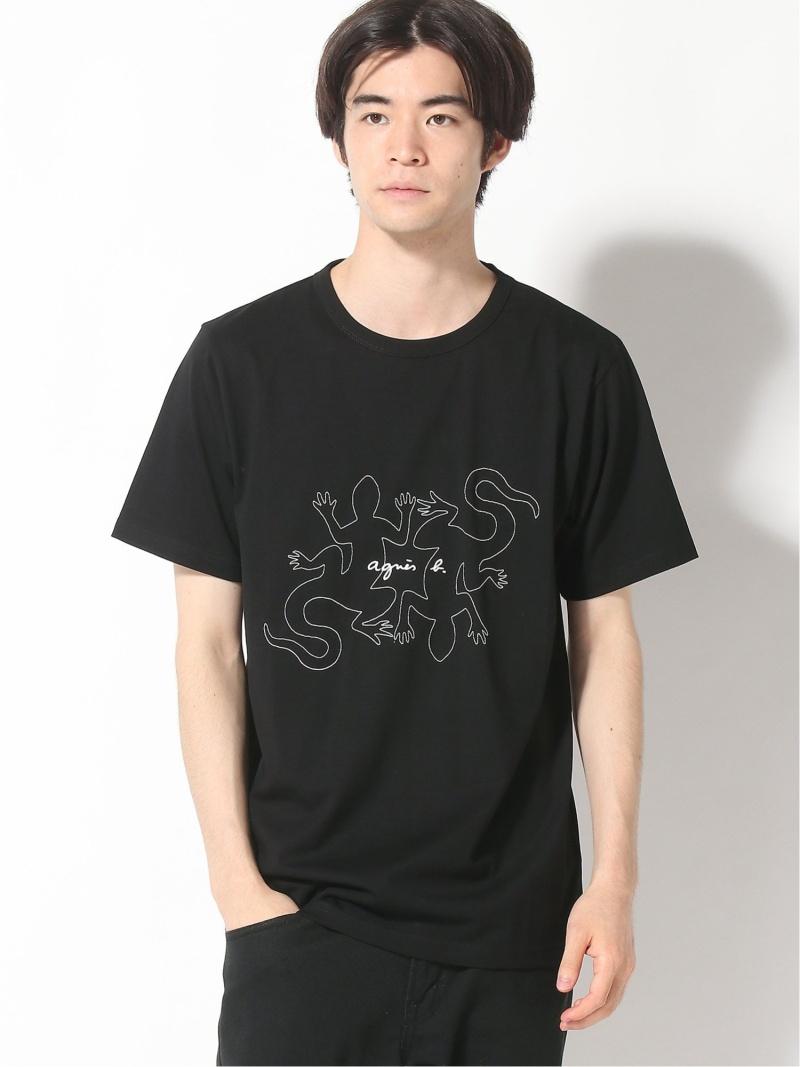 agnes b. HOMME agnes b. HOMME/(M)K314 レザールTシャツ アニエスベー カットソー Tシャツ ブラック【送料無料】