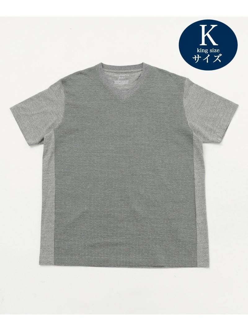 JOSEPH ABBOUD 【JOE COTTON・キングサイズ】サッカー Tシャツ ジョセフアブード カットソー Tシャツ グレー ホワイト ブルー ネイビー【送料無料】