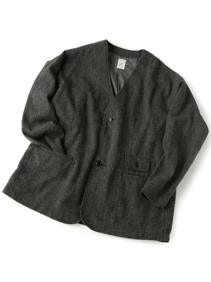 ノーカラージャケット/ツイード メンズ ビギ コート/ジャケット【送料無料】