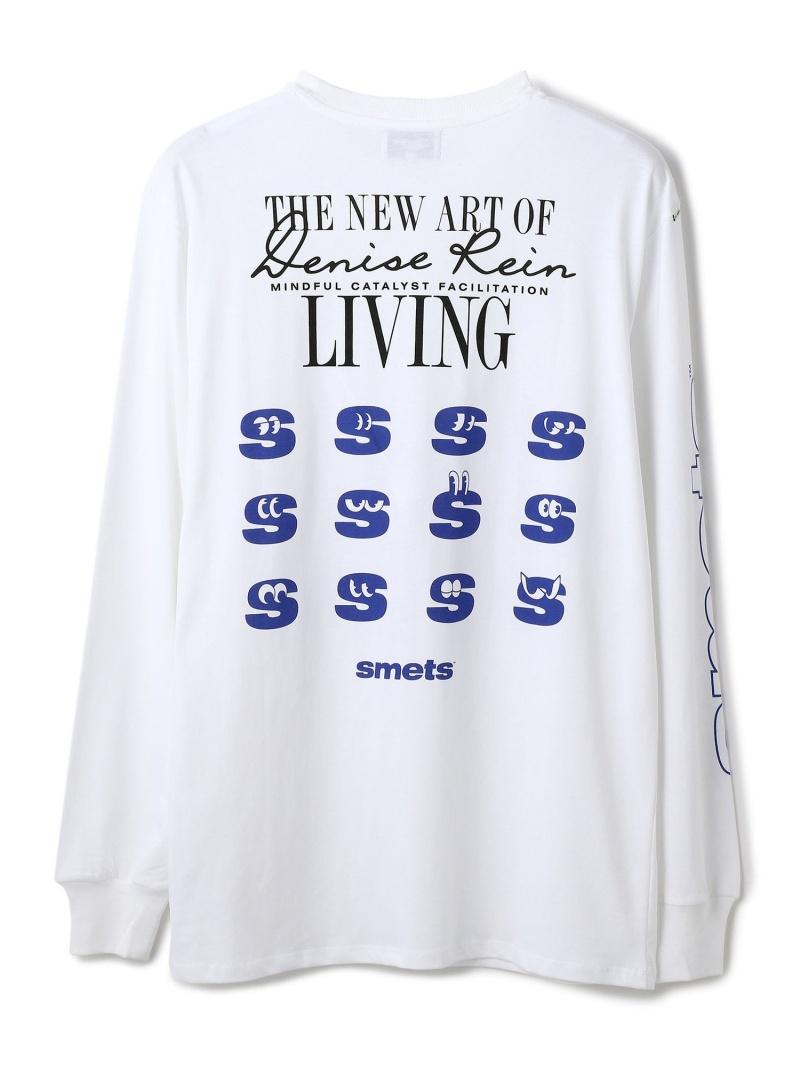 LHP Denise Rein x Smets/デニスレイン×スメッツ/PRINT L/S TEE エルエイチピー カットソー Tシャツ ホワイト【送料無料】