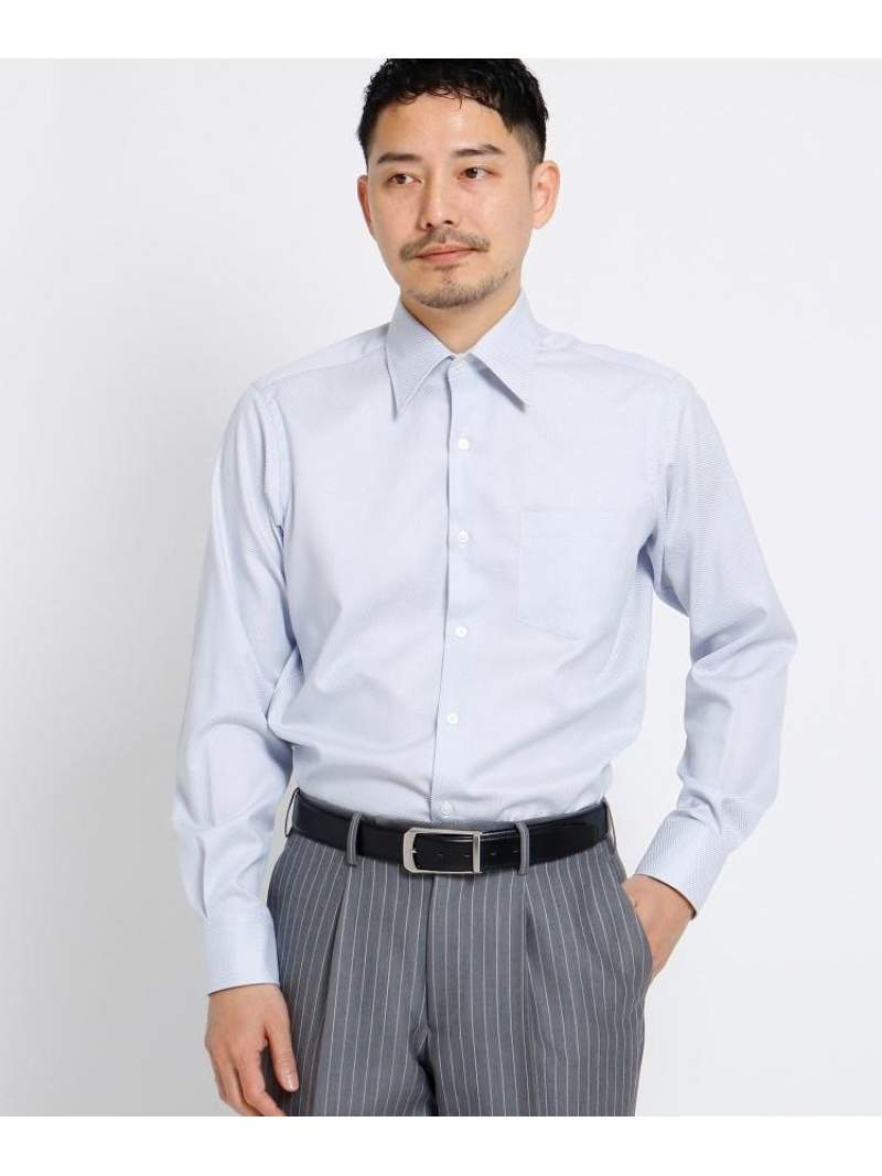 TAKEO KIKUCHI ブロックピンオックスシャツ[メンズシャツオックス] タケオキクチ シャツ/ブラウス シャツ/ブラウスその他 グレー ネイビー【送料無料】