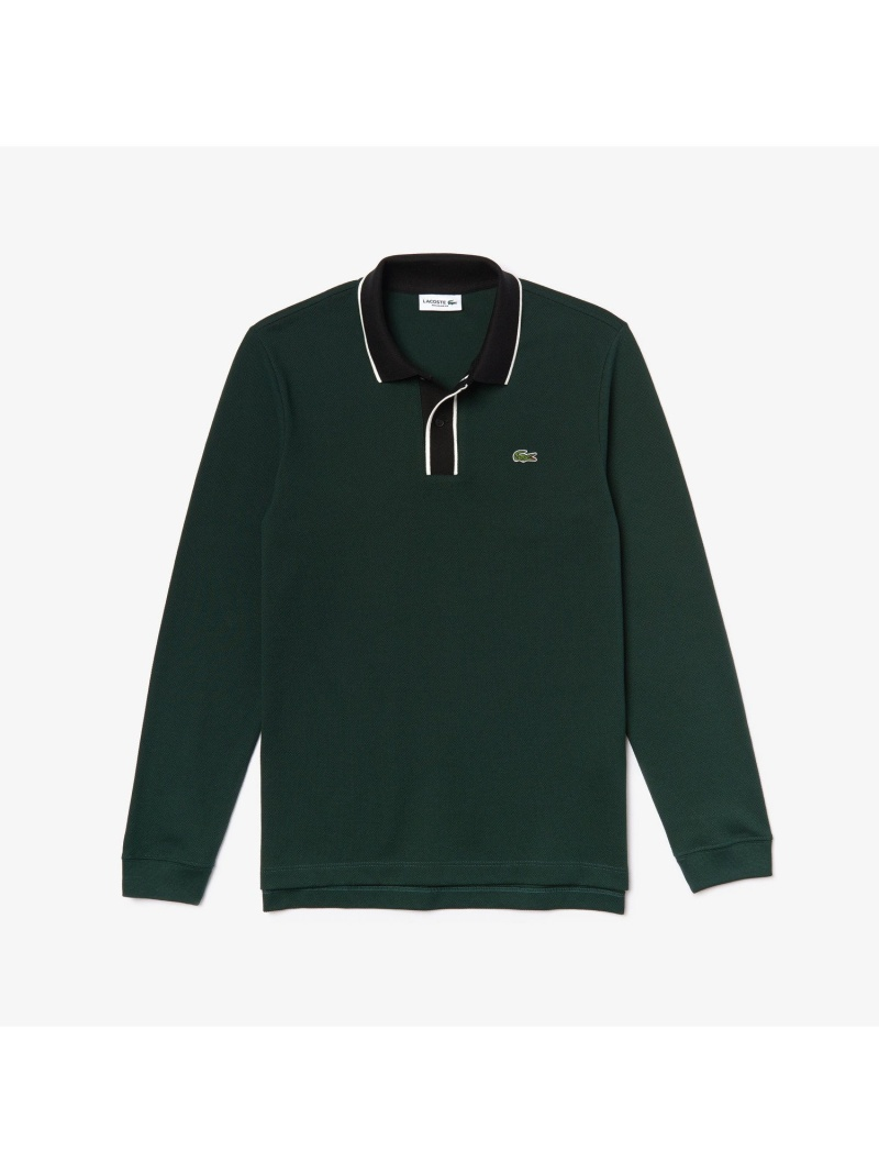 【SALE/30%OFF】LACOSTE ボーダー前立てロングスリーブポロ ラコステ カットソー ポロシャツ【RBA_E】【送料無料】