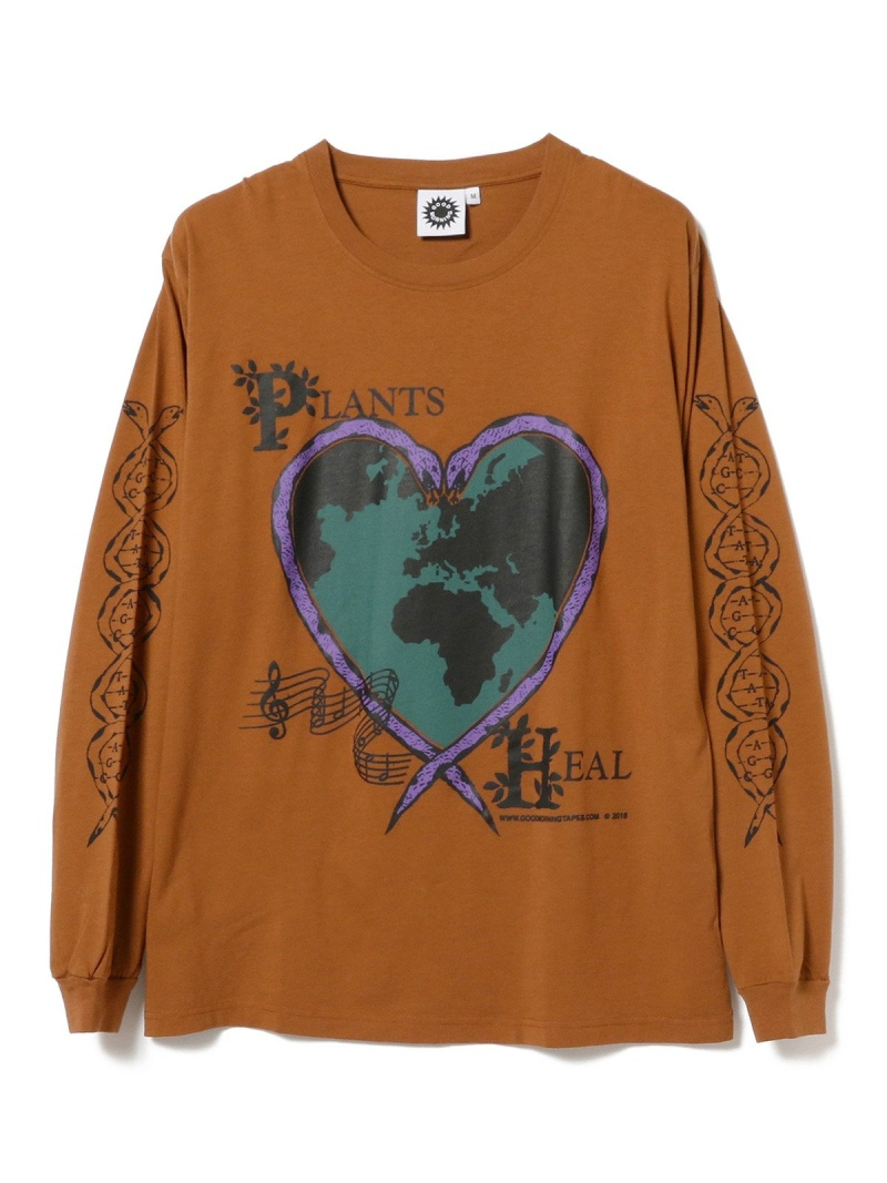 BEAMS T Good Morning Tapes / Plants Heal ロングスリーブ Tシャツ 20FW ビームスT カットソー Tシャツ【送料無料】