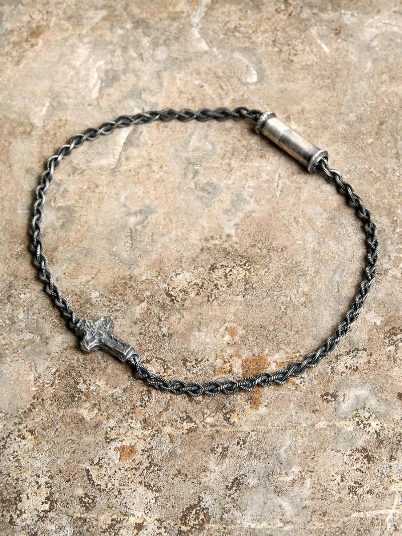 GILD Wrapping texture cross braded chain bracelet マージン アクセサリー【先行予約】*【送料無料】