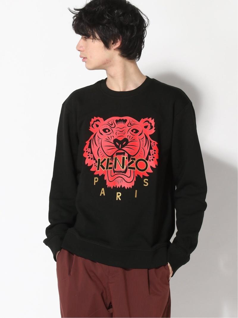 KENZO (M)CNY20 Classic Tiger Sweatshirt M ケンゾー カットソー スウェット ブラック レッド【送料無料】