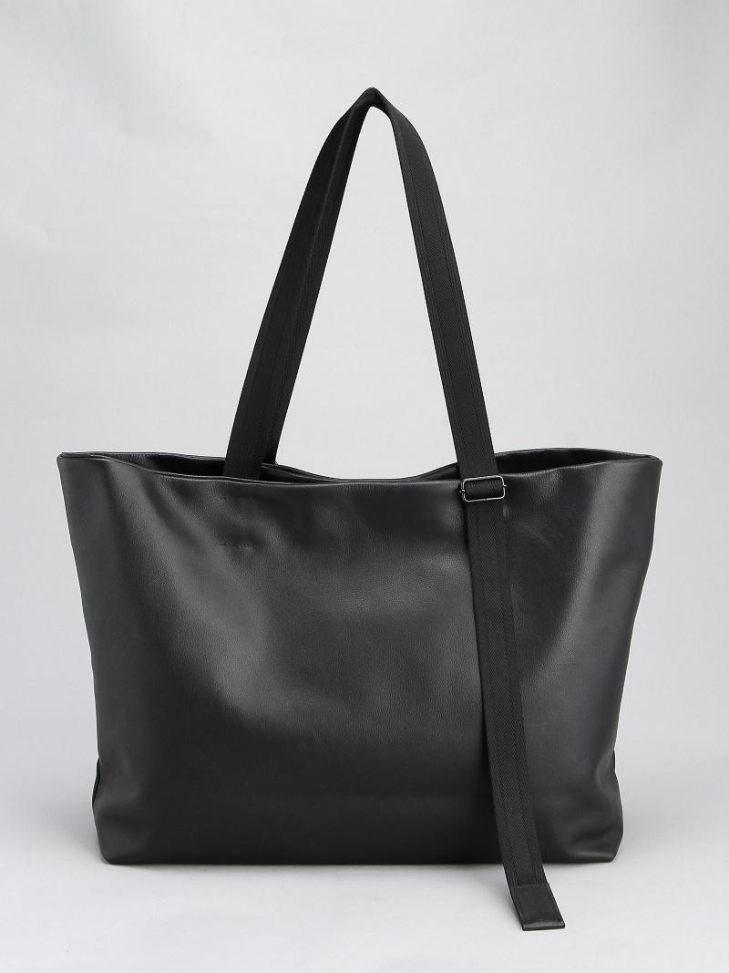 (U)Leather tote wide 'adjustable shoulder' パトリック ステファン バッグ【送料無料】