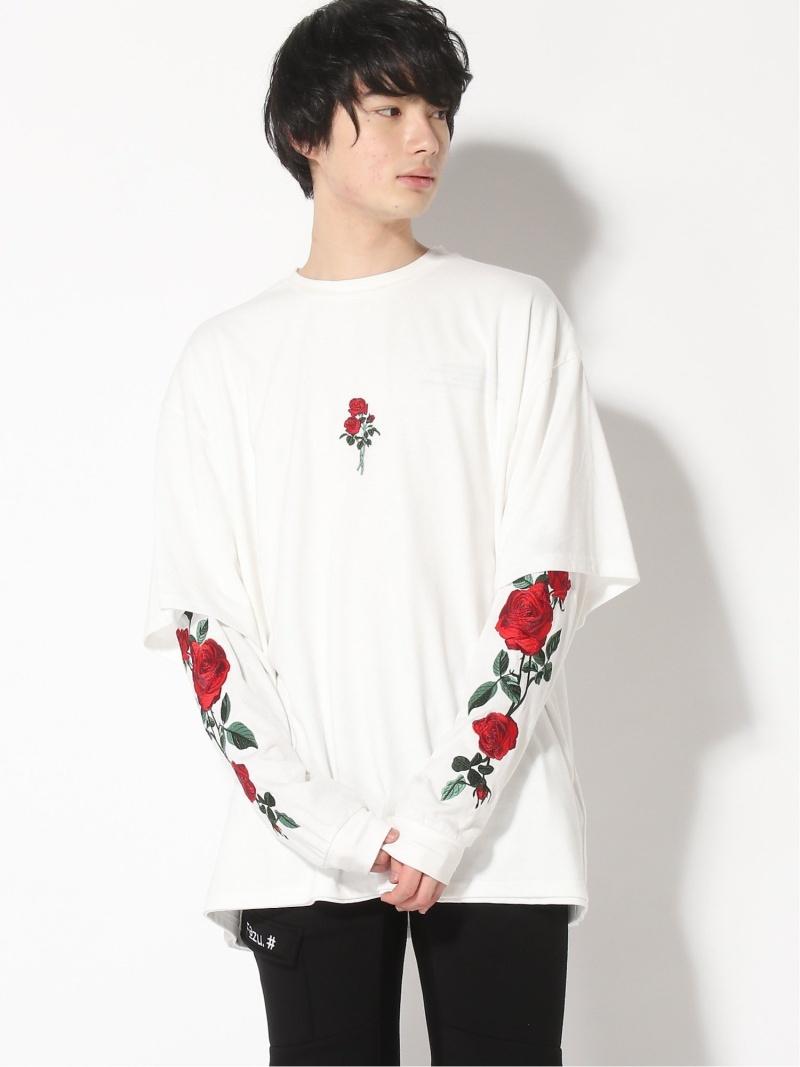 JACKROSE (M)JACKROSE/ローズシシュウアンサンブルLSTEE ジャックローズ カットソー Tシャツ ホワイト【送料無料】