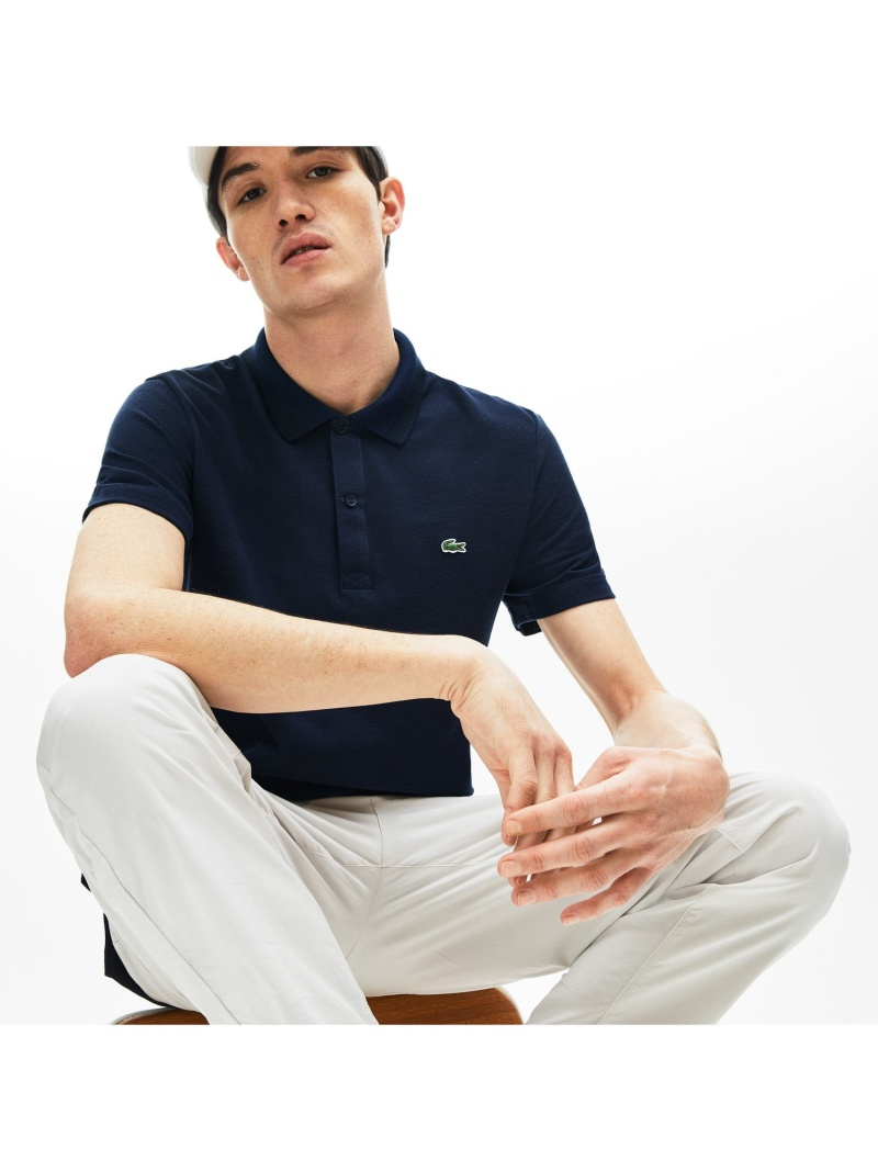 【SALE/30%OFF】LACOSTE 襟配色鹿の子地ポロ ラコステ カットソー ポロシャツ【RBA_E】【送料無料】