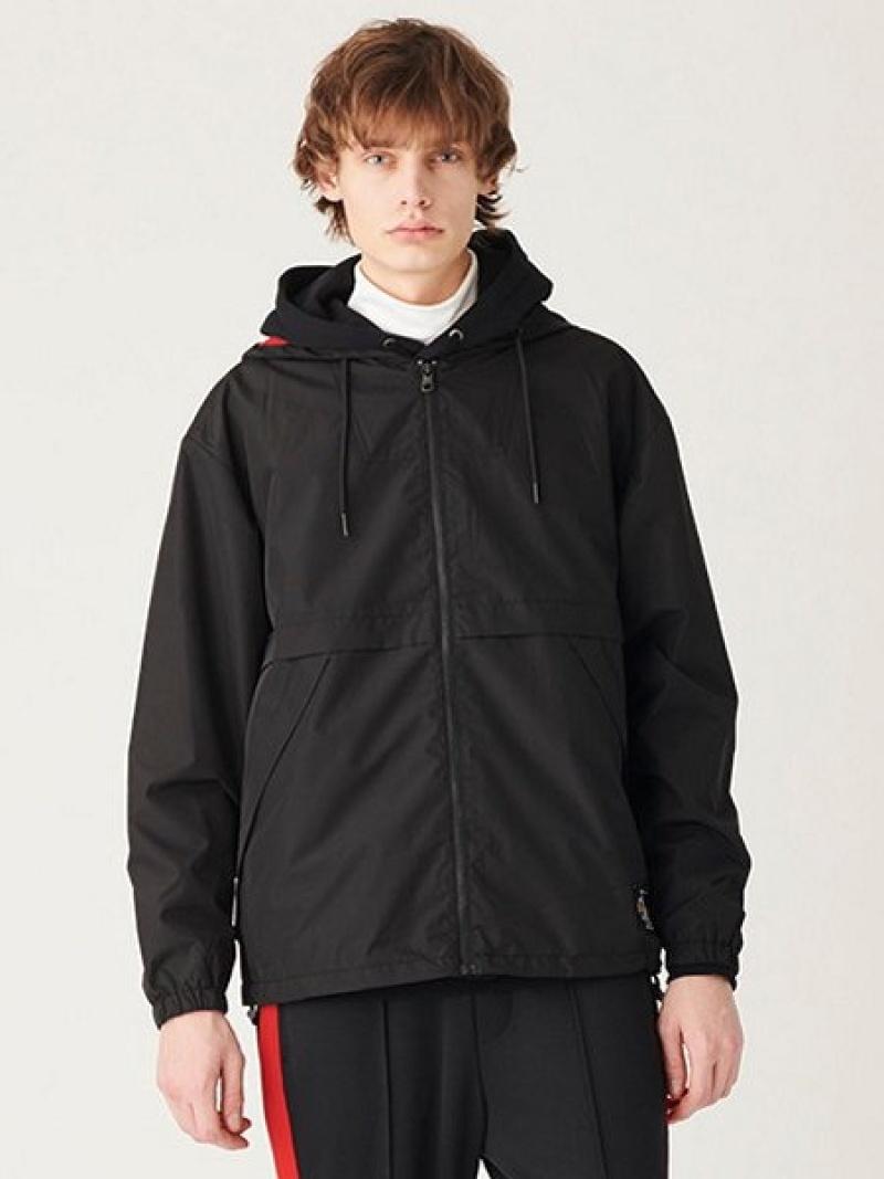 【SALE/50%OFF】Calvin Klein Jeans (M) カルバン クライン ライト ウェイト ジップ アップ スウェット カルバン・クライン コート/ジャケット マウンテンパーカー ブラック【RBA_E】【送料無料】