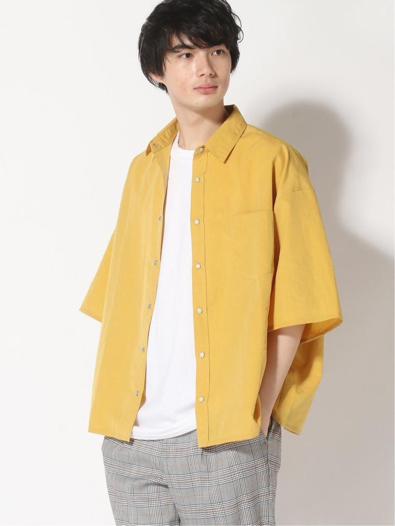 NOMA t.d. NOMA t.d./ WISM EX Big Shirt ウィズム シャツ/ブラウス 半袖シャツ イエロー ブラック グレー ブラウン【送料無料】