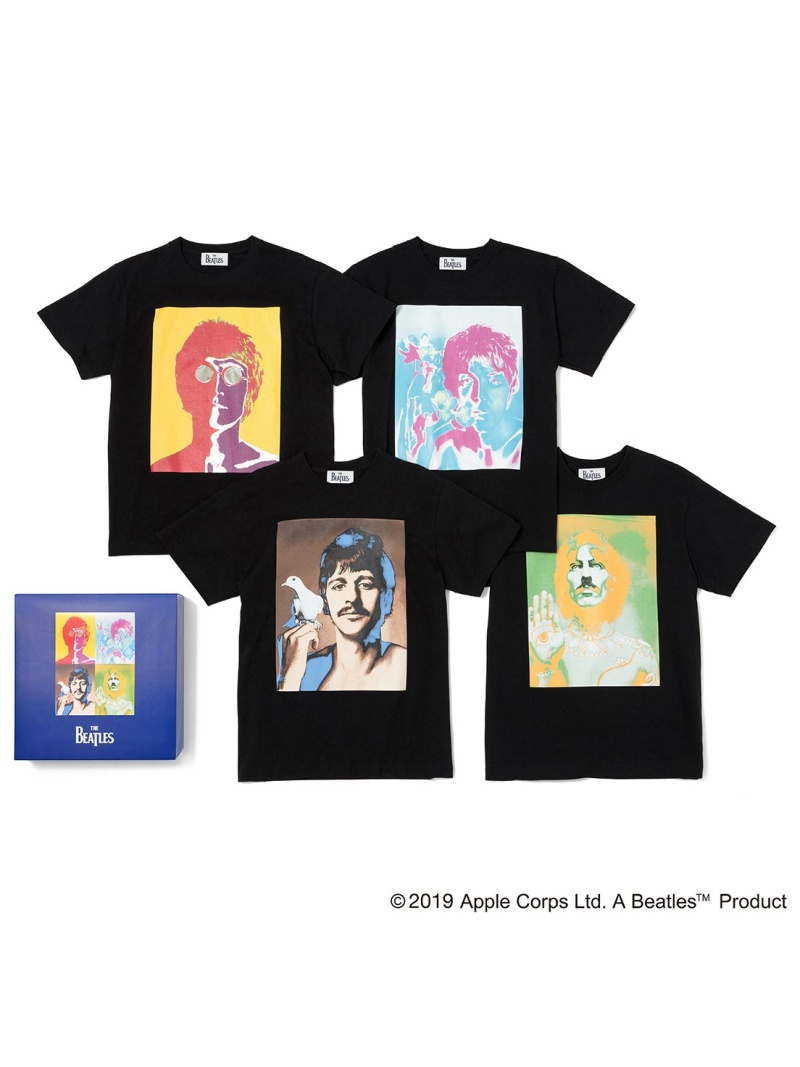 bonjour records 【THE BEATLES for bonjour records】TEE SET ボンジュールレコード カットソー カットソーその他 ブラック ホワイト【送料無料】