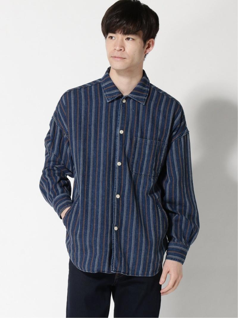BEAMS MEN REMI RELIEF × BEAMS PLUS / 別注 ワイドシャツ ビームス メン シャツ/ブラウス 長袖シャツ ブルー【送料無料】