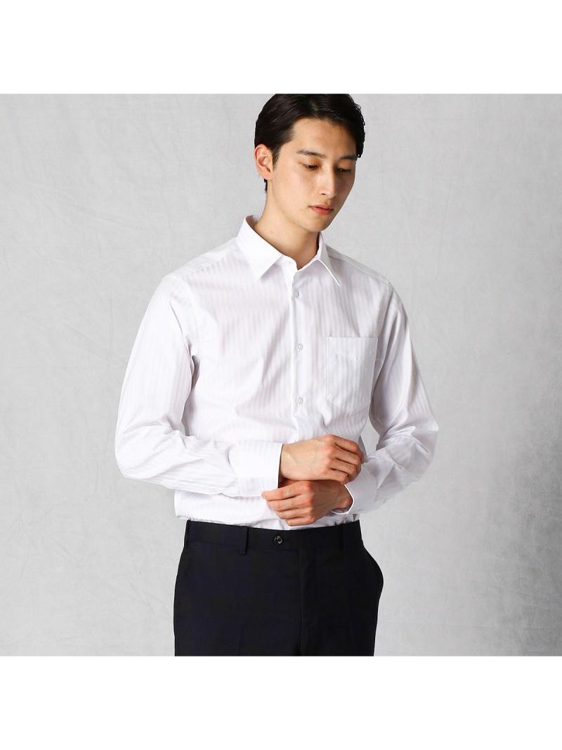 COMME CA MEN ホワイトドビーレギュラーカラーシャツ コムサメン シャツ/ブラウス ワイシャツ【送料無料】