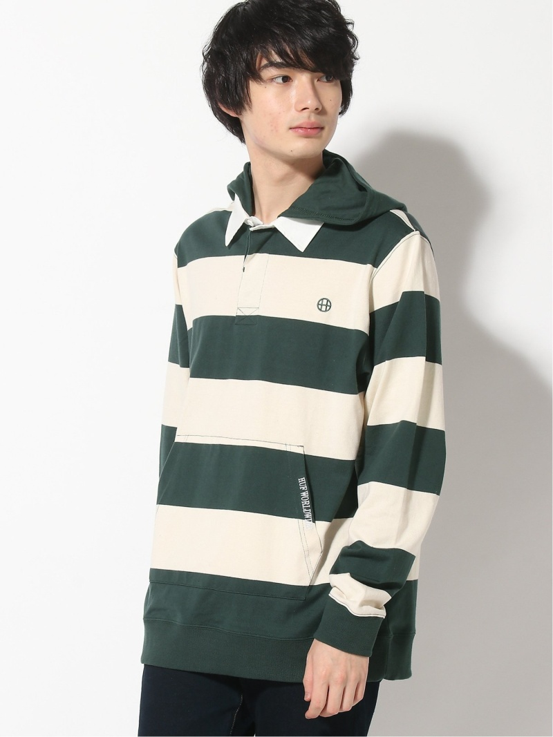 【SALE/20%OFF】HUF (M)HAYES RUGBY ハフ パーカー ハフ カットソー パーカー グリーン【RBA_E】【送料無料】