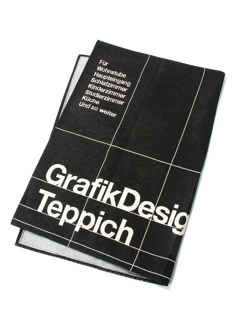TIMELESS COMFORT TYPOGRAPHY[GRID]RUG140×200*ブラック タイムレス コンフォート 生活雑貨【送料無料】