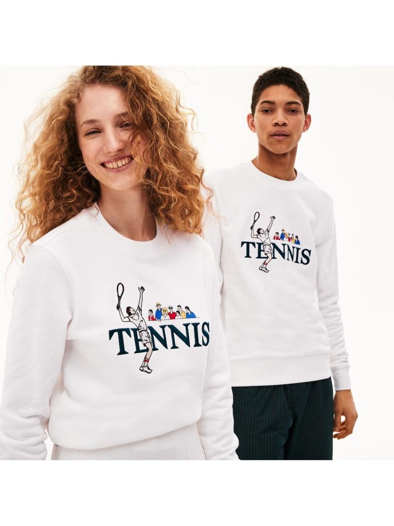 【SALE/30%OFF】LACOSTE ユニセックステニスデザインスウェットシャツ ラコステ カットソー スウェット【RBA_E】【送料無料】