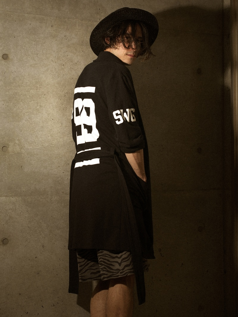 【SALE/70%OFF】SWAGGER THE NUMBERS LONG GOWN スワッガー コート/ジャケット【RBA_S】【RBA_E】【送料無料】