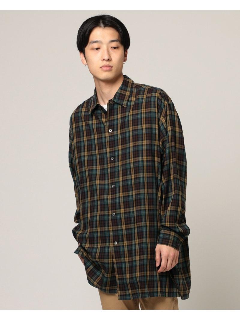 BEAMS ビームス/ イージーフィット ロングシャツ ビームス BEAMS メン シャツ//ブラウス【送料無料】, W Pocket:0ab8b46d --- officewill.xsrv.jp