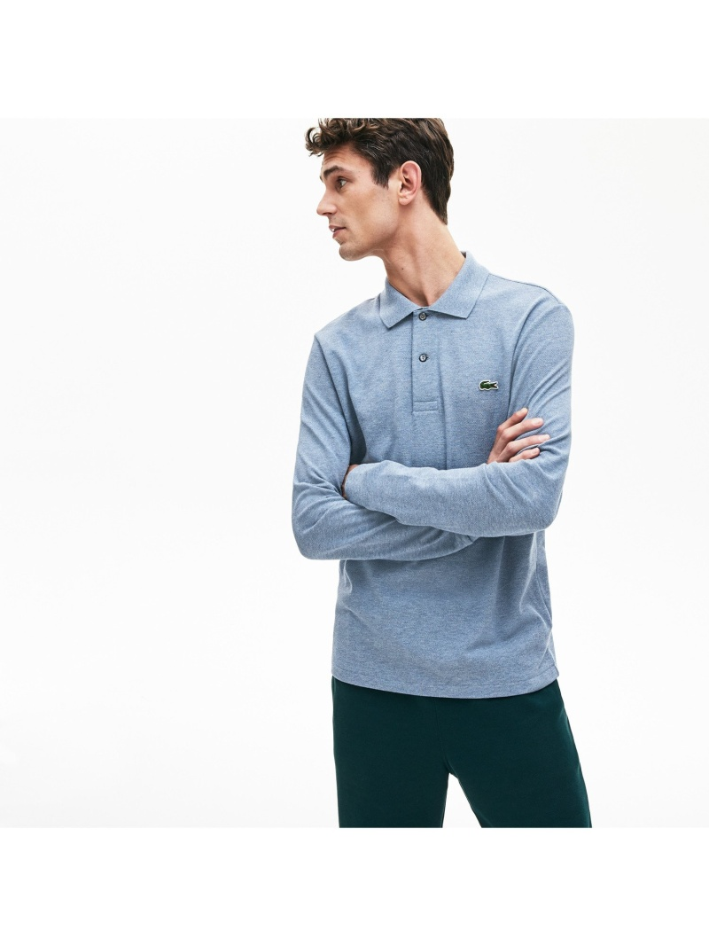 LACOSTE 長袖リブカラ-シャツL1313(杢・長袖) ラコステ カットソー ポロシャツ【送料無料】