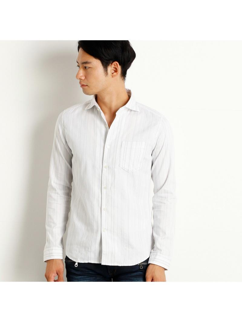 HIDEAWAYS NICOLE ストライプホリゾンタルカラーシャツ ニコル シャツ/ブラウス【送料無料】