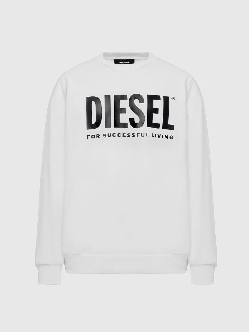 DIESEL S-GIR-DIVISION-LOGO ディーゼル カットソー スウェット ホワイト ブラック グレー グリーン ネイビー【送料無料】