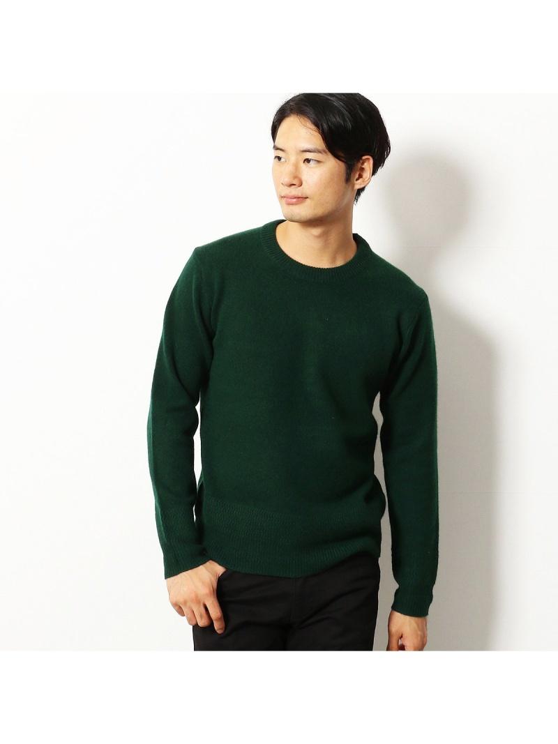 COMME CA COMMUNE ラムウール クルーネックニット コムサイズム ニット【送料無料】
