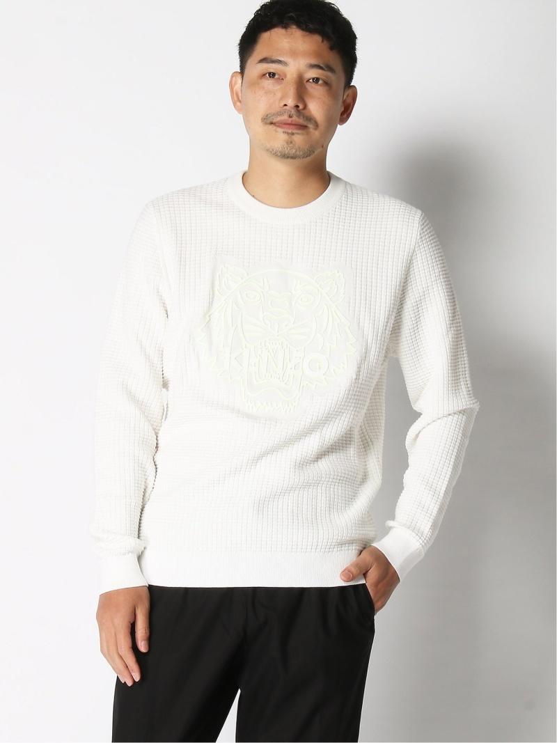 KENZO (M)HS19 Crew Neck Sweater Tiger Neon ケンゾー カットソー スウェット ホワイト【送料無料】