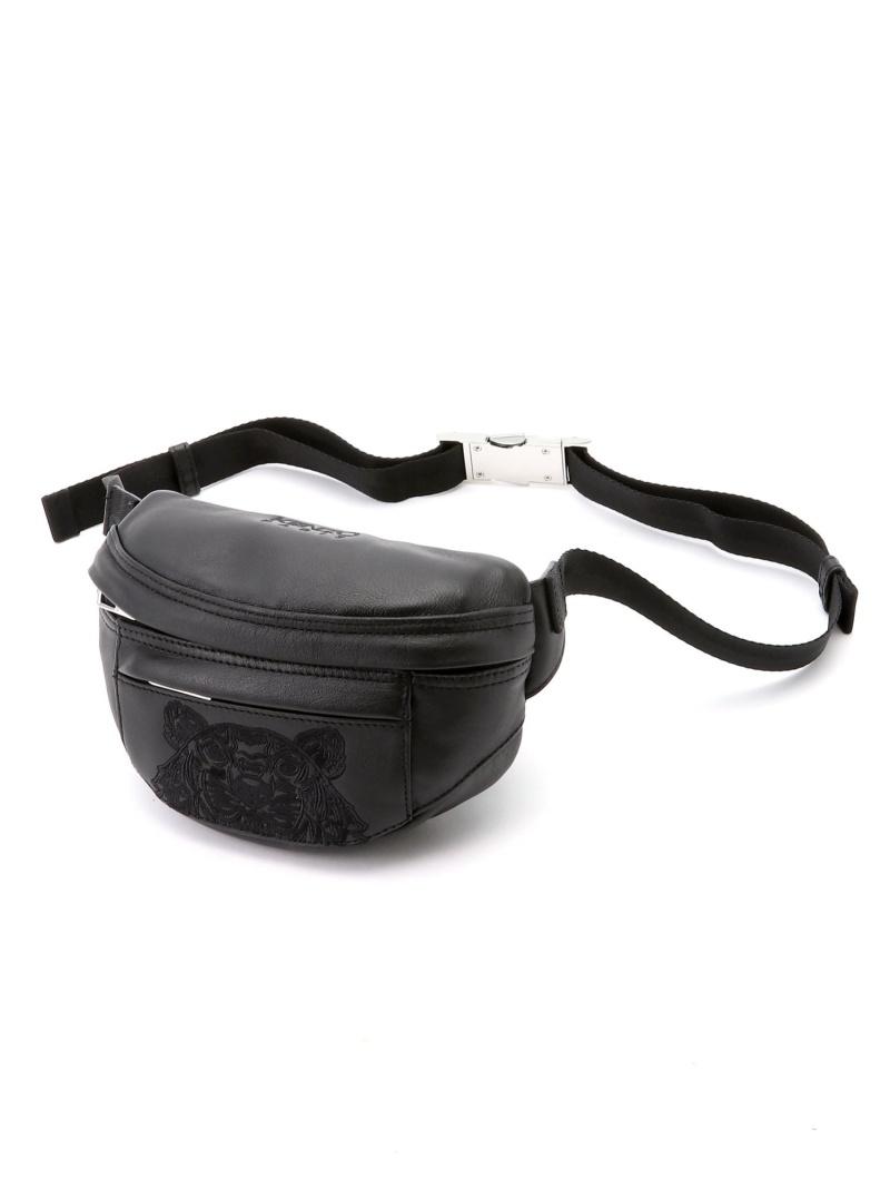<title>KENZO メンズ バッグ ケンゾー M Kampus オンラインショップ Tiger Mini Bumbag Leather ウエストポーチ ブラック 送料無料</title>