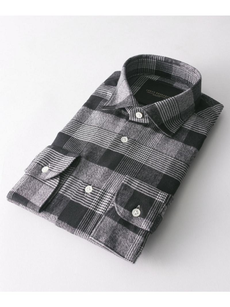 URBAN RESEARCH URBAN RESEARCH Tailor ネルチェックショートポイントシャツ アーバンリサーチ シャツ/ブラウス【送料無料】
