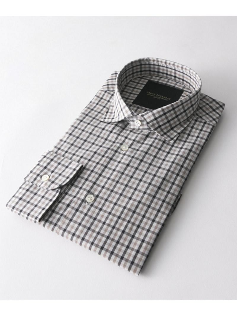 URBAN RESEARCH URBAN RESEARCH Tailor ブリティッシュチェックショートポイントシャツ アーバンリサーチ シャツ/ブラウス【送料無料】